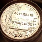 Gem Unc Roll (50 Coins) French Polynesia 2003 1 Franc~Free Shipping~