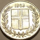 BRILLIANT UNC ICELAND 1963 10 AURAR~FREE SHIPPING~WE HAVE ICELAND COINS~