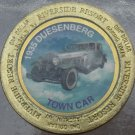 LARGE RIVERSIDE RESORT $1 GAMING TOKEN~1935 DUESENBERG TOWN CAR~FREE SHIPPING~
