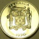 Rare Huge Proof Jamaica 1979 25 Cents~Streamer Hummingbird~4,049 Minted~Fr/Sh~