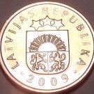 Gem Brilliant Unc Lativa 2009 2 Santimi~Pre Euro Coin~Free Shipping
