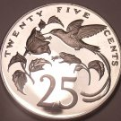 Huge Proof Jamaica 1975 25 Cents~Hummingbird~Mintage 16,000~Free Shipping~