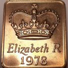 GREAT BRITAIN 1978 PROOF SET MEDALLION~FREE SHIPPING~GREAT FOR MAKING CUFFLINKS~