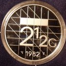 Rare Encapsulated Proof Netherlands 1982 2 1/2 Gulden~10,000 Minted~Free Ship