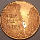 Humongous 46mm Proof Berlin Wall Medallion~As It Crumbles So Does Its Shame~F/S