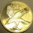 Large Rare Proof Botswana 1976 50 Thebe~African Fish Eagle~1st Year Ever~Free Sh