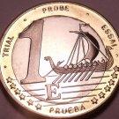 Rare Sweden 2003 Bi-Metal 1 Euro~Essai Trial Preuba Pattern Proof~17K Minted~F/S