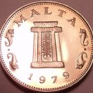 Rare Cameo Proof Malta 1979 5 Cents~Temple Of Hagar Qim~Only 6,577 Minted~Fr/Shi