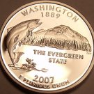 Cameo Proof 2007-S Washington State Quarter~We Have Proof State Quarters~Free Sh