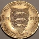 LARGE RARE UNC STATES OF JERSEY 1888 1/12TH OF A SHILLING~AWESOME~FREE SHIP~