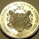Rare Proof Sierra Leone 1980 20 Cents~Only 10K Minted~Dr Siaka Stevens~Free Ship