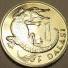 MASSIVE PROOF GAMBIA 1971 1 DALASI~1ST YEAR MINTED~CROCODILE~32K MINTED~FREE SHI