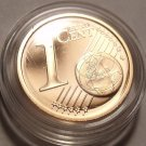 EXTREMELY RARE IRELAND 2007 ENCAPSULATED CAMEO PROOF 1 EURO CENT~5K MINTED~FR/SH