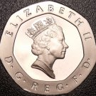 Gem Cameo Great Britain Proof 1997 20 Pence~Crowned Rose~Free Shipping