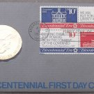 1974 BICENTENNIAL FIRST DAY COVER MEDALLION~REVOLUTION~JOHN ADAMS~FREE SHIPPING~
