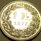 Rare Gem Cameo Proof Switzerland 1977 Franc~Only 7,030 Minted~Free Shipping