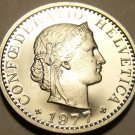 Rare Gem Cameo Proof Switzerland 1977 20 Rappen~Only 7,030 Minted~Free Shipping~