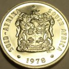 PROOF SOUTH AFRICA 1978 10 CENTS~EXCELLENT~19,000 MINTED~ALOE PLANT~FREE SHIP~