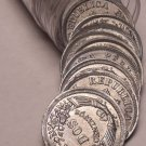 Very Scarce Unc Roll (50 Coins) Peru 1950 2 Centavos Coins~1st Year~Zinc~Fr/Ship