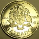 RARE PROOF BARBADOS 1976 2 DOLLARS~10TH ANNIVERSARY OF INDEPENDENCE~FREE SHIP~