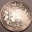 Huge Rare Silver Great Britain 1844 Half Crown~Scarce Date Coin~Free Shipping