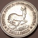 Massive Silver South Africa 1949 5 Shillings~Over 65 Year Old Coin~Free Shipping