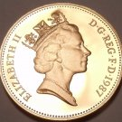 Scarce Cameo Proof Great Britain 1987 2 Pence~Only 89,000 Minted~Welsh Plume~F/S