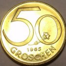 PROOF AUSTRIA 1965 50 GROSCHEN~CHECK R STORE 4 PROOF COINS~FREE SHIP