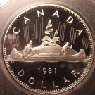 Gem Cameo Proof Canada 1981 Voyageur Dollar~199,000 Minted~Free Shipping