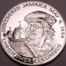 Massive Silver Proof Jamaica 1975 10 Dollars~Christopher Columbus 1494~Free Ship