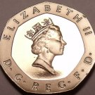 Proof Great Britain 1989 20 Pence~Super Cameo~100,000 Minted~Free Shipping