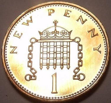 Cameo Proof Great Britain 1989 Penny~Collect Proofs~100,000 Minted~Free Shipping