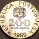 RARE HUGE BI-METAL PROOF PORTUGAL 1999 200 ESCUDOS~F/S~