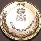 WOW~ HUGE BI-METAL PROOF PORTUGAL 1998-INCM 200 ESCUDOS