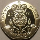Cameo Proof Great Britain 2001 20 Pence~We Have a Huge Selection Of Proofs~Fr/Sh