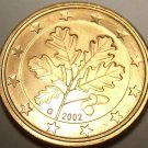 Gem Unc Germany 2002-G 5 Euro Cents~Oak Leaves~Karlsruhe Mint~Free Shipping