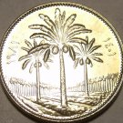 Gem Unc Iraq 1981 25 Fils~Last Year Ever Minted~Palm Trees~Free Shipping