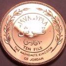 Rare Proof Kingdon Of Jordan AH-1398 (1978) 10 Fils~Only 20,000 Minted~Free Ship