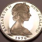 Rare Cameo Proof New Zealand 1976 5 Cents~11,000 Minted~Tuatara~Free Shipping