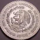 Huge Gem Unc Silver Mexico 1966 Peso~INDEPENDENCIA Y LIBERTAD~Fantastic~Free Shi