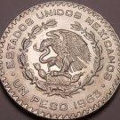 Huge Gem Unc Silver Mexico 1963 Peso~INDEPENDENCIA Y LIBERTAD~Fantastic~Free Shi