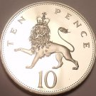 Proof Great Britain 1976 10 Pence~100,000 Minted~Crowned Lion~Free Shipping