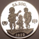 Rare Silver Proof Bolivia 1979 200 Pesos~International Year of the Child~Fr/Ship