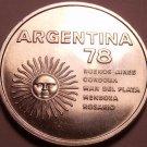 Gem Unc Silver Argentina 1978 1,000 Pesos~World Soccer Championship~Free Ship