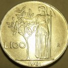 Large Rare Italy 1961-R 100 Lire~Olive Tree~Scarce Coin~Free Shipping*