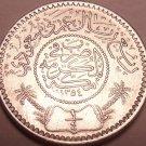 Gem Unc Silver Saudi Arabia AH1354 (1935) 1/4 Riyal~Fantastic~Free Shipping