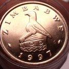 Gem Unc Roll (40) Zimbabwe 1997 Cent~Bird Statue~We Have Gem Rolls~Free Ship