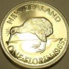 Large Rare Proof New Zealand 1965 Florin~Kiwi Bird~25,000 Minted~Free Shipping