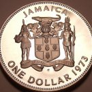 Rare Cameo Proof Jamaica 1973 Dollar~Only 28,000 Minted~Awesome~Free Shipping
