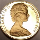 Cameo Proof Australia 1977 Cent~Only 55,000 Minted~Feather-tailed Glider~Free Sh